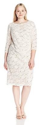 Jessica Howard Women's Size Lace Sheath Dress