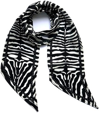 Ingmarson Zebra Silk Neck Scarf Black & White