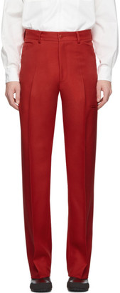 Random Identities Red High-Rise Five Pocket Trousers