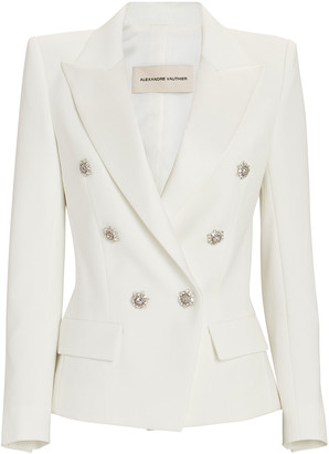 Alexandre Vauthier Crepe Double-Breasted Blazer