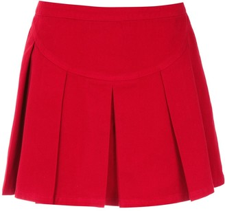 Andrea Bogosian pleated mini skirt