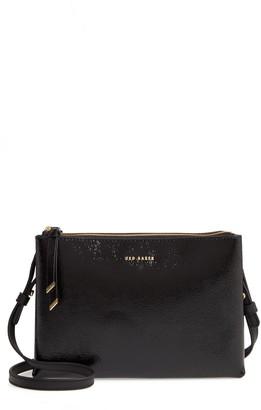 Ted Baker Deenah Double Zip Leather Crossbody Bag