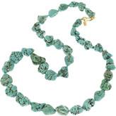 22-karat gold-plated resin bead necklace