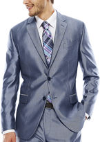 Jf J.Ferrar JF Shimmer Blue Suit Jacket - Slim Fit