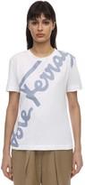 Salvatore Ferragamo Logo Patch Cotton Jersey T-shirt
