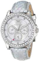 Juicy Couture Women's 1901063 Pedigree Silver Metallic Leather Strap Watch
