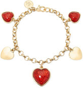 Liz Claiborne Red Heart Charm Bracelet