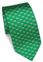 Salvatore Ferragamo Bike Printed Silk Tie