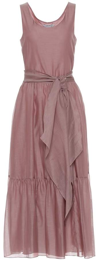 a5d35e5aa6 S Manche cotton and silk voile dress