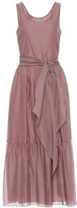 Max Mara S Manche cotton and silk voile dress