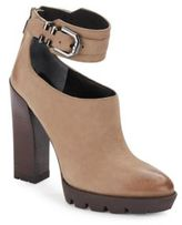 Kenneth Cole Otto Leather Ankle Strap Booties