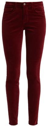L'Agence Marguerite High-Rise Velvet Skinny Pants