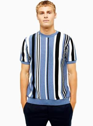 TopmanTopman Vertical Stripe Short Sleeve Jumper