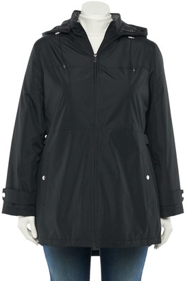 Details Plus Size Radiance Hooded Water-Resistant Jacket