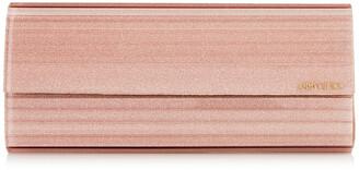Jimmy Choo SWEETIE Ballet Pink Fine Glitter Acrylic Clutch Bag