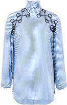 Ellery striped embroidered shirt - women - Cotton/Polyester/Spandex/Elastane - 6