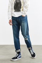 Levi's 501 Custom Tapered Fuzzy Destructed Jean
