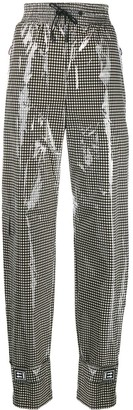 Off-White Shiny Gingham Trousers