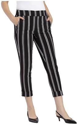 Tribal Pull-On Capris w/ Cuff (Black) Women's Casual Pants