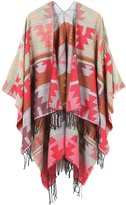 JURUAA Plus Size Pashmina Scarf Shawl Cape Wrap Crochet Poncho