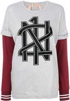 No.21 layered logo T-shirt
