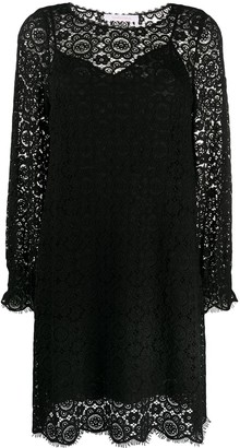 See by Chloe Floral Embroidered Layered Shift Dress