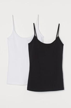 H&M 2-pack Cotton-blend Tank Tops