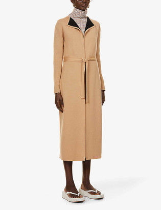 Gabriela Hearst Nancy reversible wool and cashmere-blend wrap coat