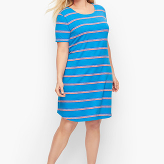 Talbots Ladder Back Stripe T-Shirt Dress