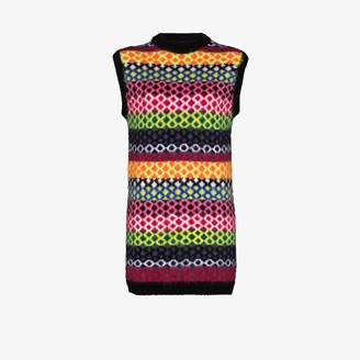 AGR Diamond Stripe Knit Dress