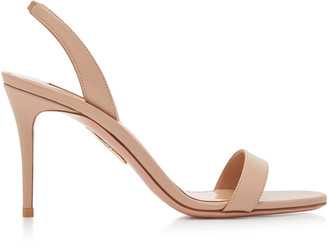 Aquazzura So Nude Leather Sandals