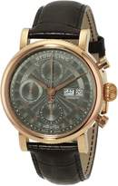 Stuhrling Original Men's 139.04 Prestige Prominent Analog Display Swiss Automatic Brown Watch
