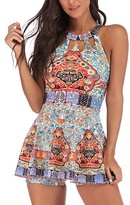 Red Love Women's Casual Dresses RED - Red Floral Geometric Strappy-Back Tankini Top & Bottoms - Women & Plus