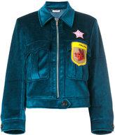 Miu Miu velvet jacket with appliqués