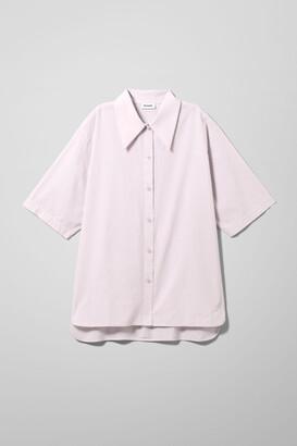 Weekday Lesley Cotton Shirt - White
