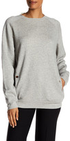 Helmut Lang Distressed Crew Neck Pullover Sweatshirt