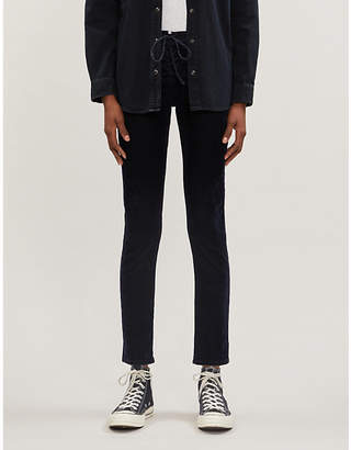 Levi's Lace-up mid-rise skinny velvet jeans