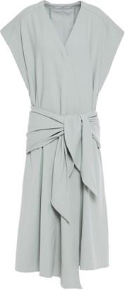 Tibi Tie-front Stretch-jersey Midi Dress