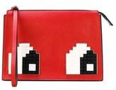 Les Petits Joueurs Women's Red Leather Clutch.