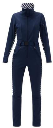 Perfect Moment Aspen Zigzag-panel Soft-shell Ski Suit - Navy