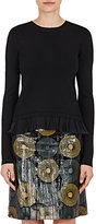 Nina Ricci Women's Wool Crossover-Back Sweater-Black