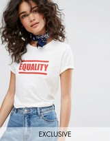People Tree Organic Cotton T-Shirt With Equality Slogan