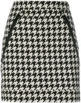 Love Moschino houndstooth print mini skirt - women - Cotton/Wool - 42