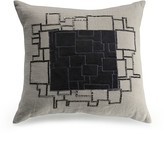 "Mitchell Gold Bob Williams Velvet and Beaded Squares Pillow, 22"" x 22"""