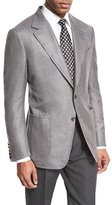 Tom Ford Shelton Base Hopsack Two-Button Sport Coat, Gray