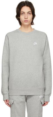 Nike Grey Fleece Sportswear Club Sweatshirt