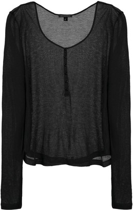 Kiki de Montparnasse Ribbed Intime T-shirt