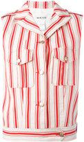 Michel Klein sleeveless striped jacket