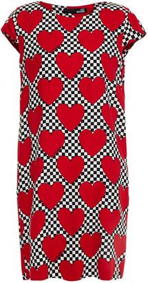 Love Moschino Printed Twill Mini Dress