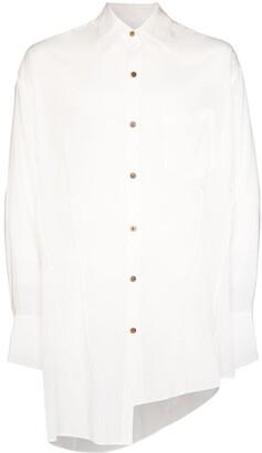 Sulvam asymmetric Tencel shirt
